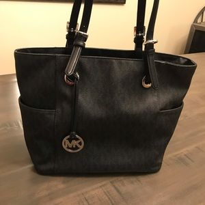 Michael Kors MK Black Signature Tote Bag Purse